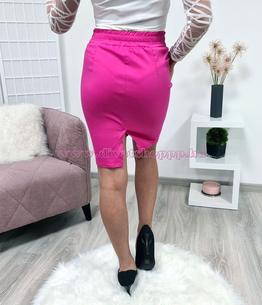 Zsebes, egyszínű szoknya (pink)